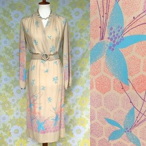 True Vintage🌸70s does the 40s Midi Dress!